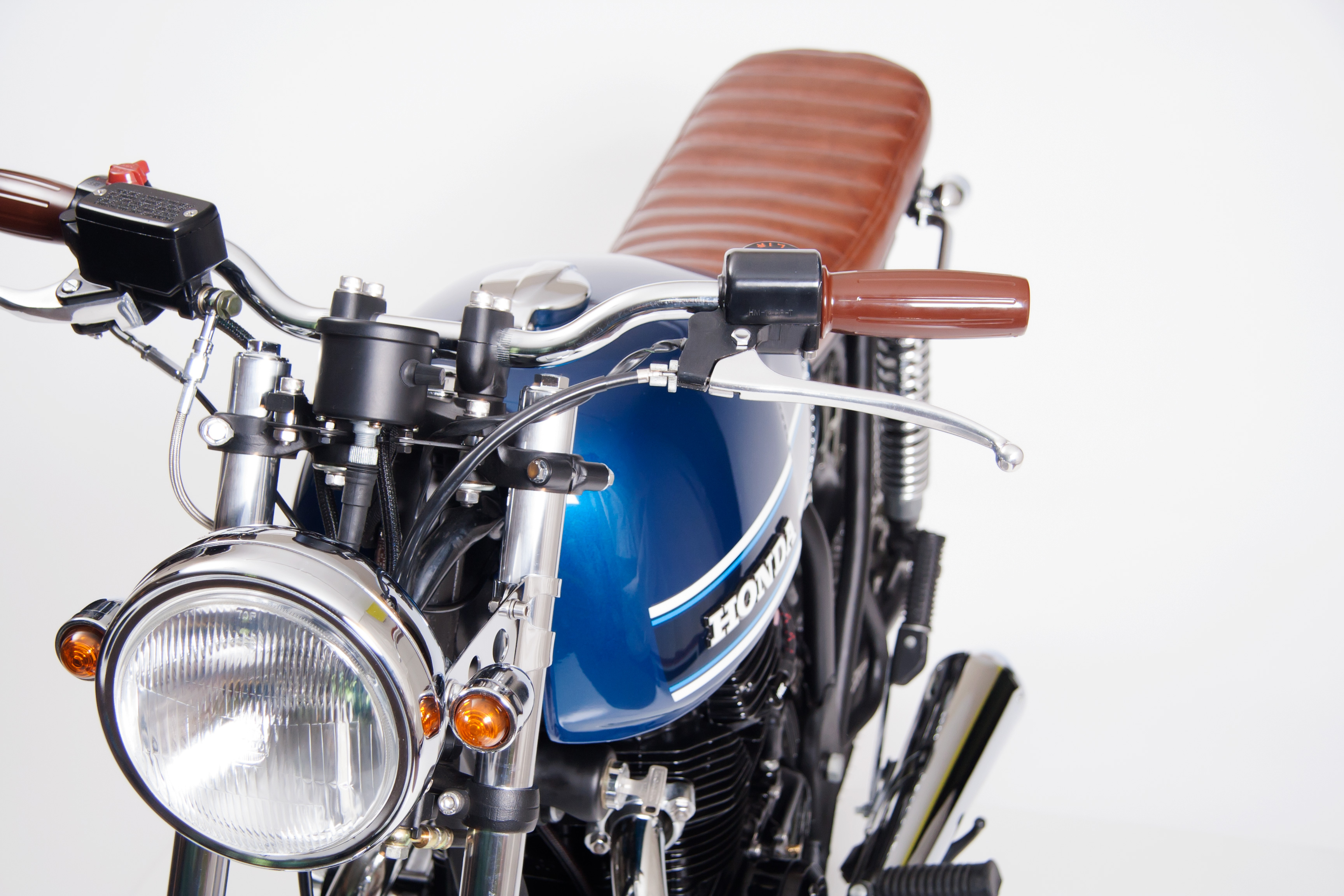 Restored Honda CB360T With Updated Chrome Headlight Bucket and New Turn Signals