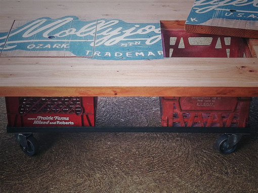 milk crate coffee table - slipstream creations