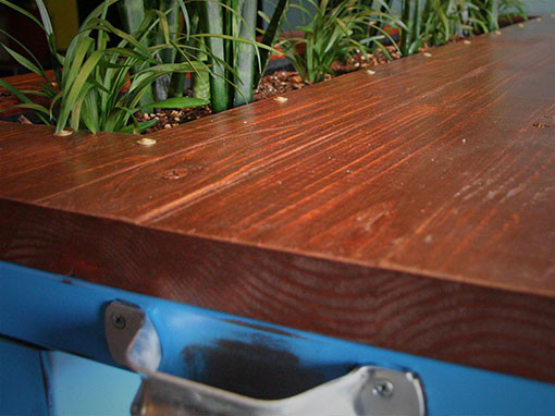 Industrial Style Table With Planter Box