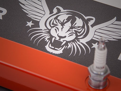 Flying Tiger Spark Plug Coat Rack